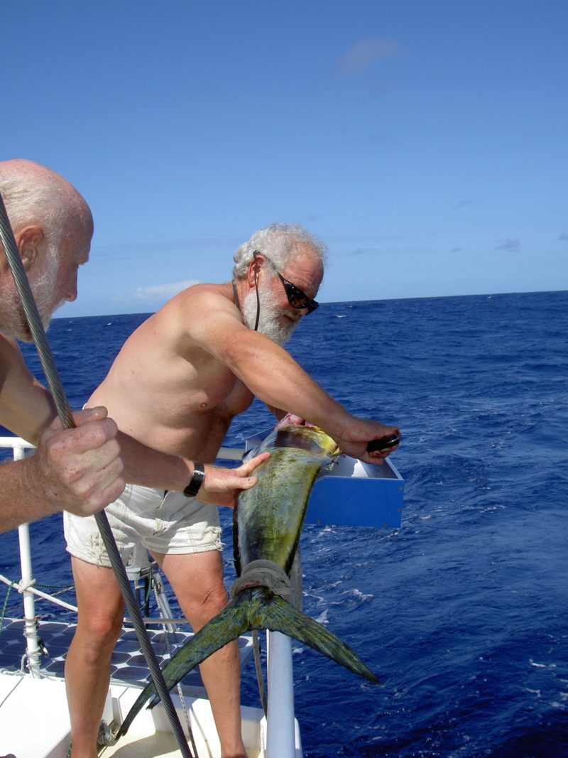 Steve and Terry caught a Mahi in the Solomon Islands