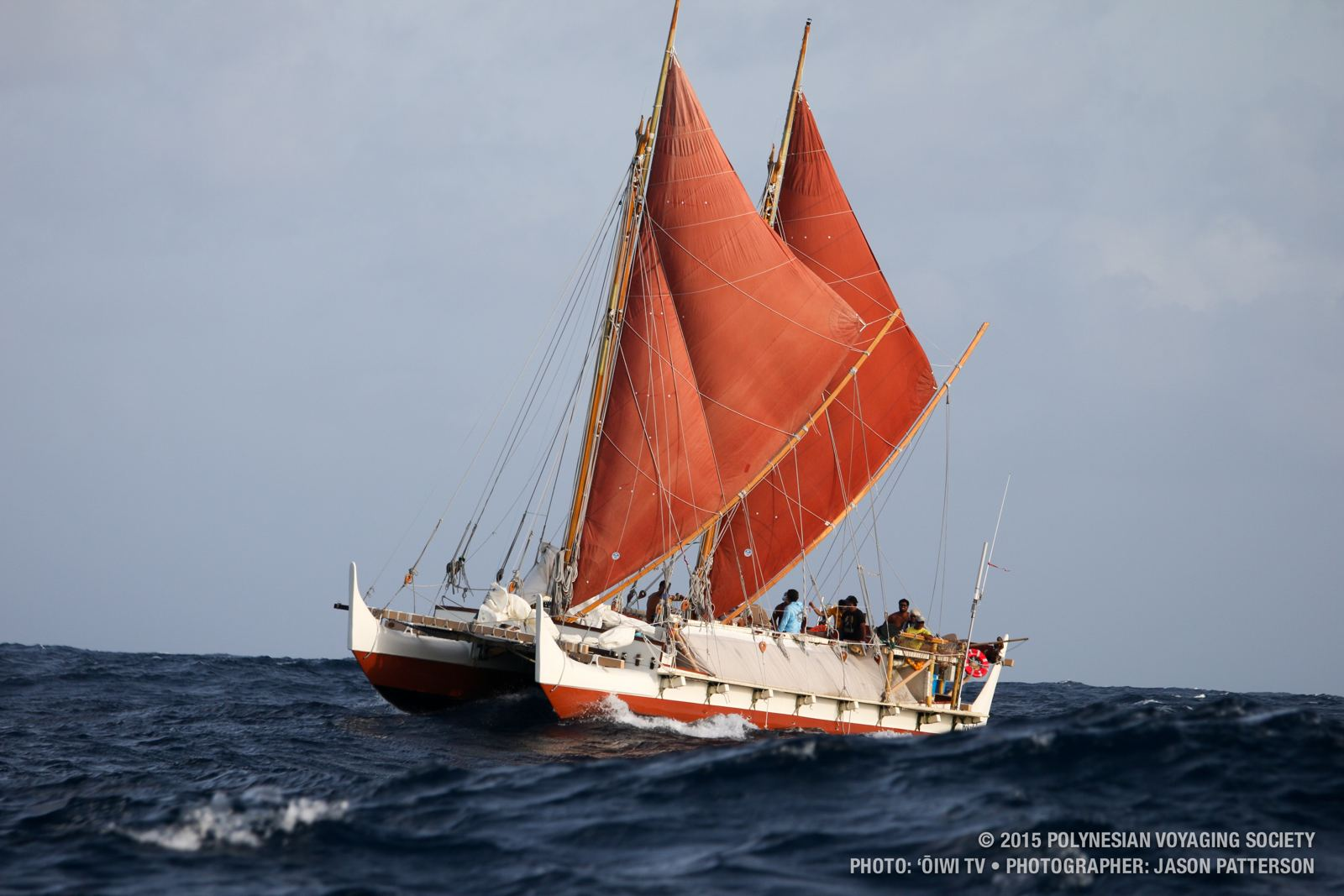 Hokule'a at sea