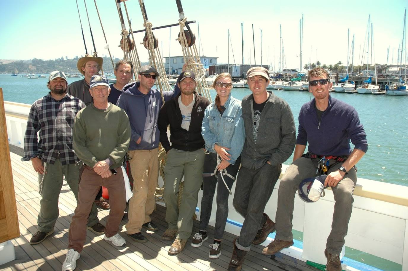 Crew on the Matthew Turner © Call of the Sea