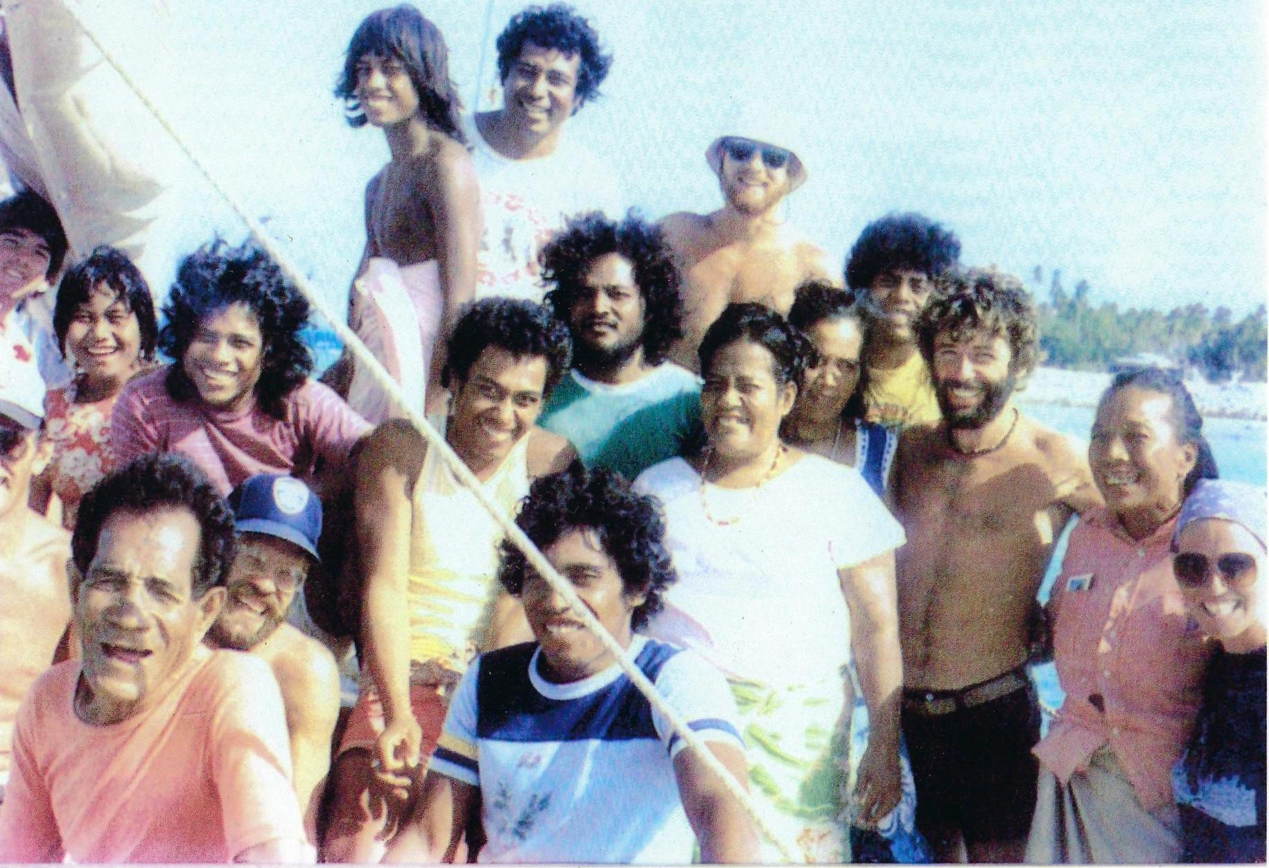 Terry, Bruno, and Fanning Island friends 1980's